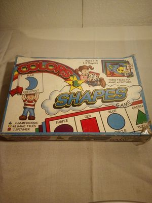 Vintage Smethport Colors and shapes game for Sale in Wakeman, OH
