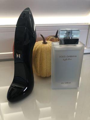 Dolce and Gabbana Light Blue perfume and Carolina Herrera Good Girl for Sale in Bonita, CA
