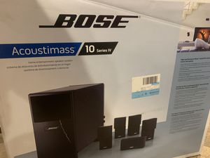 Brand new Bose Acoustimass 10 Series IV Home Entertainment Speaker System (Black) for Sale in Bell, CA