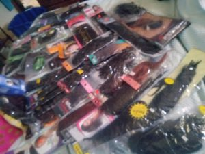 Large assortment of hair extinctions and pieces for Sale in Wardsville, MO