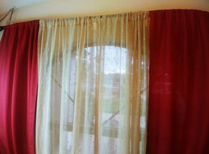 Red Linen Curtains for Sale in Peoria, AZ