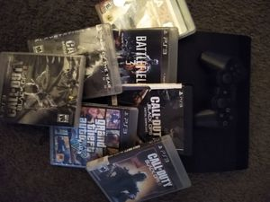 PS3 7 games and one controller for Sale in Atlanta, GA