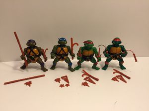 1988 TMNT Turtles Lot - Vintage Action Figure Toy Playmates - Teenage Mutant Ninja for Sale in Lisle, IL