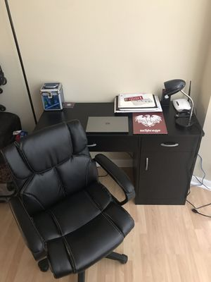Study Chair with free Desk & Lamp for Sale in Chicago, IL