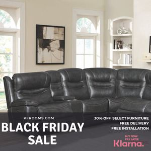 FREE DELIVERY / $164 a month / Grey leather recliner sectional sofa for Sale in Miami, FL