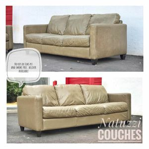 Italian leather couches from NATUZZI pet and smoke free good conditions. for Sale in Charlotte, NC