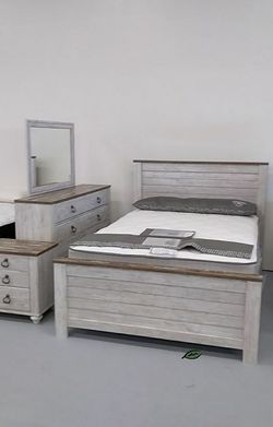 💦. BRAND NEW. 💦Willowton Whitewash Panel Bedroom Set for Sale in Beltsville,  MD