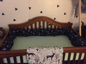 Baby Boy Braided Crib Bumper for Sale in ROWLAND HGHTS, CA