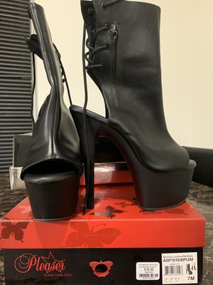 PLEASER size 7 dance boots wore once for Sale in Sterling Heights, MI