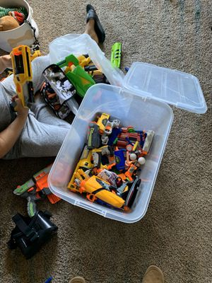 Whole bin of nerf guns for Sale in Redwood City, CA