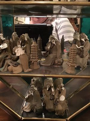 Antique hand carved mud men for Sale in Los Angeles, CA
