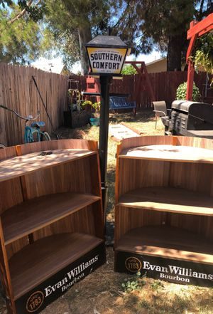 Southern comfort lamp and bookshelves for Sale in Galt, CA