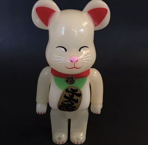 Bearbrick be@rbrick 400% medicom toy luminous fortune cat figure for Sale in Las Vegas, NV