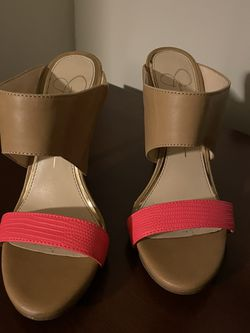 Jessica Simpson Tan And Coral Heels for Sale in Alexandria,  VA
