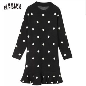 Black and white polka dots sweater dress for Sale in Millsboro, DE