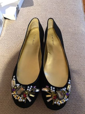Size 9.5 Nine West bedazzled black flat for Sale in St. Louis, MO