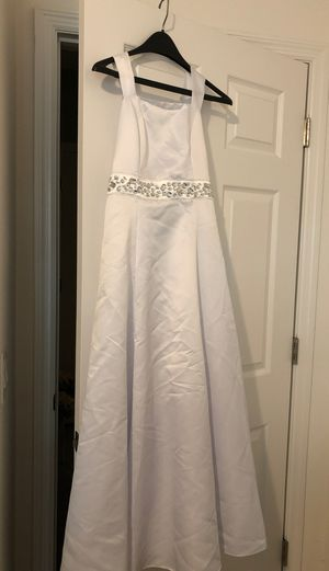 Girls bridesmaid youth size 16 flower girl dress with rhinestones for Sale in Davenport, FL