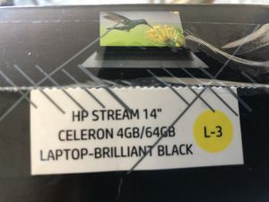 "Hp stream laptop-14"" HD display Black for Sale in Cypress, CA"