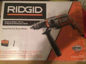 NEW RIDGID R50111 8.5AMP CORDED 1/2 INCH HEAVY-DUTY HAMMER DRILL KIT for Sale in Overland Park, KS