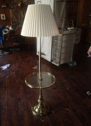 Floor lamp and table for Sale in Dallas, TX