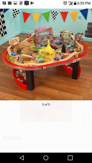Disney cars Radiator springs train set table for Sale in San Marcos, CA