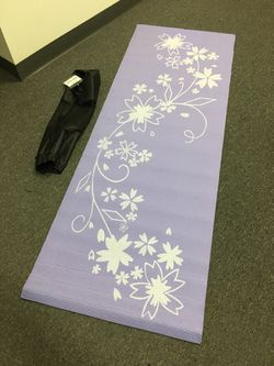 Brand new yoga mat with carry bag floor exercise mat 68x24x0.24 inches for Sale in South El Monte,  CA