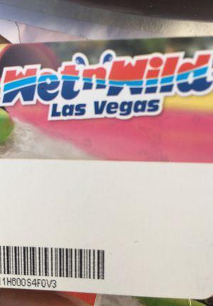 Wet N Wild Pass for Sale in Las Vegas, NV