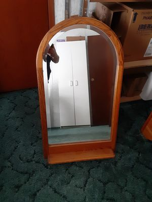 Lg Beveled Mirror with shelf for Sale in Anderson, SC
