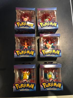 ALL 6 COLLECTIBLE POKEMON CHRISTMAS ORNAMENTS for Sale in Vancouver, WA