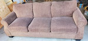 Nice Brown Fabric Couch Sofa for Sale in Bend, OR