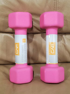 CAP Barbell 2 Piece Neoprene Pink Dumbbells, 3 lbs for Sale in Oxnard, CA
