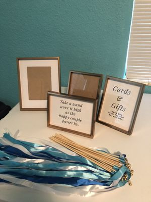 Wedding and Home Decor - frames, candles, antique suitcase for Sale in Clearwater, FL