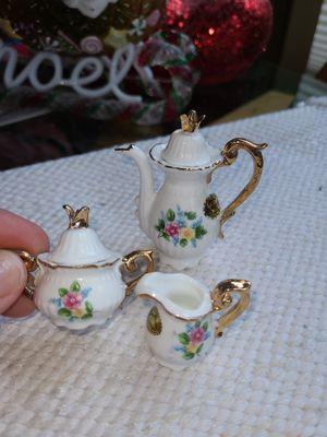 Miniture Rose Gold 3 pc Tea Set for Sale in Mill Creek, WA
