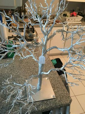 Large silver wishing tree for Sale in Chicago, IL