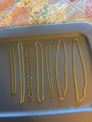 14k gold plated chains for Sale in Lynn, MA