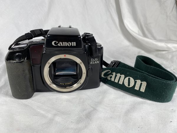 Canon EOS Elan Film Camera Body and Strap