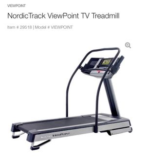 NordicTrack Viewpoint TREADMILL with TV—Commercial Grade for Sale in Camas, WA