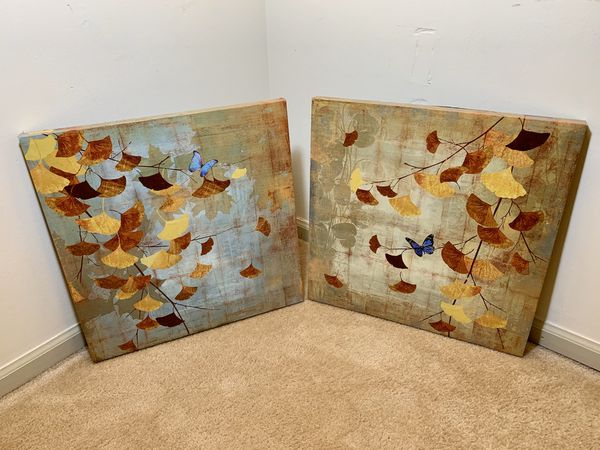 Butterfly Canvas Prints (Set of 2)