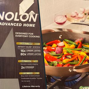 AnolonCovered wok star and fry pan for Sale in Alexandria, LA
