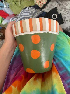 Painted Flower Pot for Sale in Virginia Beach, VA