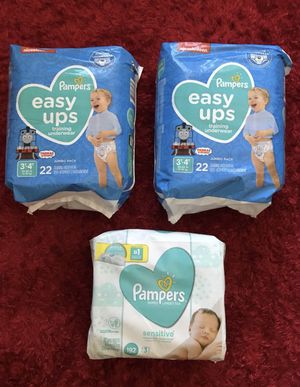 """""""PAMPERS and WIPES"""" $6.00 EACH❗️ for Sale in Apple Valley, CA"""
