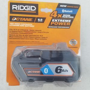 RIDGID 18-Volt OCTANE Bluetooth 6.0 Ah Battery for Sale in West Covina, CA