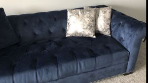 Blue sofa with pillows for Sale in McLean, VA