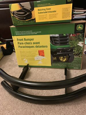 John Deere 100 Series 15 in. 2-Bar Bumper for Lawn Tractor Fits all 100 series except the G100, John Deere 42 in. Mulch Cover for Sale in Dallas, GA