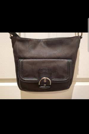 Coach Campbell Signature Metallic North South Duffle Crossbody Bag Handbag Purse F26244. Color: Black.. GREAT PRE-OWNED CONDITION.. for Sale in Mesa, AZ