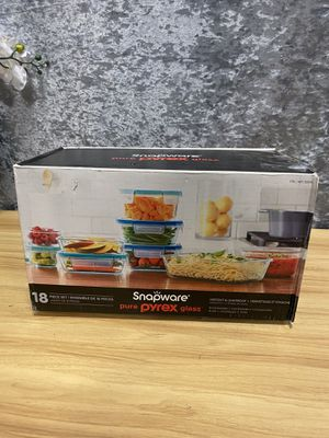 Snapware Pyrex Glass 18pc set for Sale in Hazard, CA