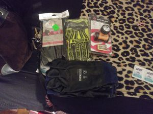 Skin armour. Rig lizard .chem cor gloves. Size xl. 1 streamlight headlamp all brand new for Sale in Hemet, CA