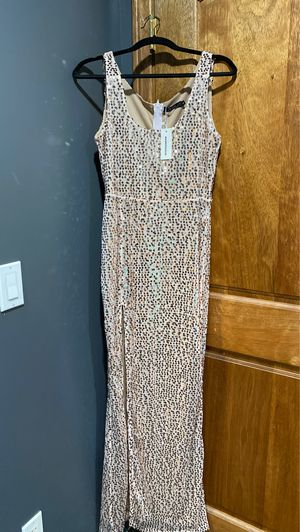 Gold sequin dress with slit for Sale in Norwalk, CA