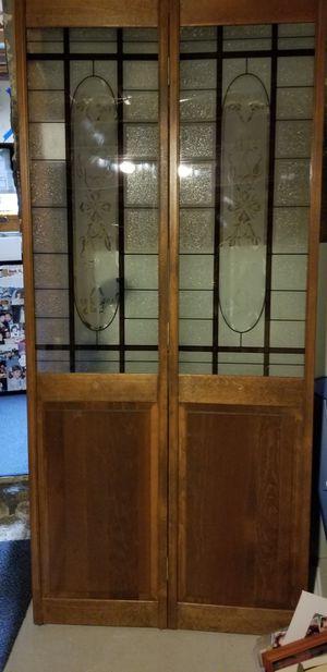 Bi fold stained glass doors for Sale in West Berlin, NJ
