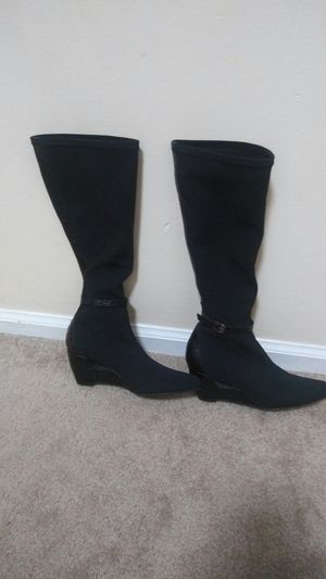 Black fabric boots for Sale in Centreville, VA